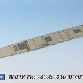 1/700 IJN AKAGI Wooden Deck set for HASEGAWA