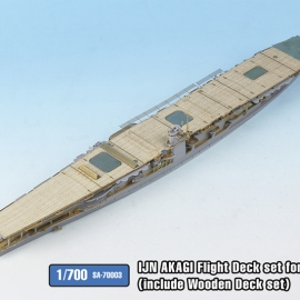 1/700 IJN AKAGI Flight Deck set(include wooden deck set) for HASEGAWA