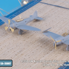 1/350 IJN Aircraft Carrier Ship Plane Set I for Fujimi (D3A1 Val, B5N2 Kate, A6M2 Zero)