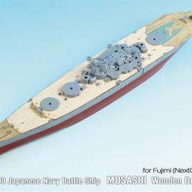 1/700 Japanese Navy Battle Ship MUSASHI Wooden Deck (for FUJIMI / Next 002)