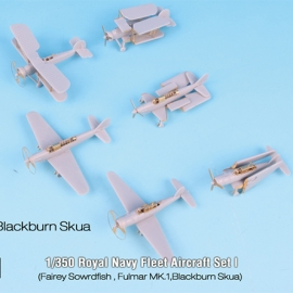 1/350 Royal Navy Fleet Aircraft Set I (Sowrdfish, Fulmar MKI, Blackburn Skua) for Merit