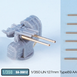 1/350 IJN 127mm Type89 AA Gun Metal Barrel (12pcs) Long