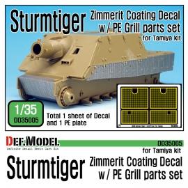 WWII SturmTiger Zimmerit Decal set 1 (1/35 Tamiya)