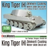 WWII KingTiger Henschel Zimmerit Decal set (1/35 Tamiya, Zvezda)