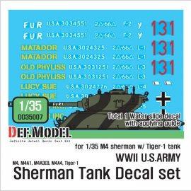 WWII US M4 tank  decal set (1/35)