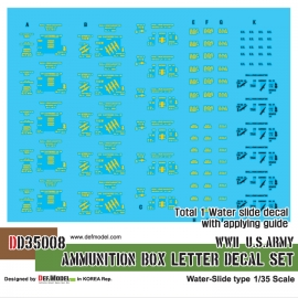WWII US Ammunition Box lettter decal set (1/35)
