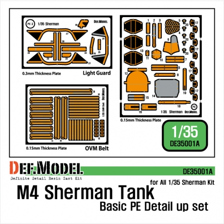 M4 Sherman PE detail up set
