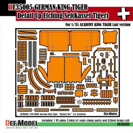 King tiger Kassel ver. PE Set (for Academy 1/35)