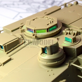 M1A2 Tusk Basic PE set with Mask seal (for Tamiya 1/35)