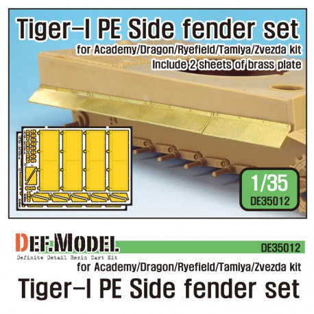 Tiger-1 PE Side Fenders set (for Academy/Tamiya/Zvezda 1/35)