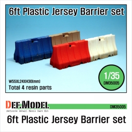 Modern 6ft Plastic Jersey Barrier set (4 PCS)
