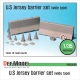 US Jersey Barrier set (Wide type)