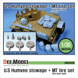 M1151 HMMWV Stowage & MT Tire set (for Academy 1/35)