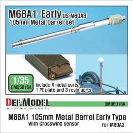 M68A1 105mm Metal Barrel Early Type(for 1/35 M60A3)