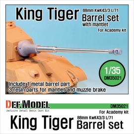 King Tiger barrel with Mantlet (for Academy 1/35)