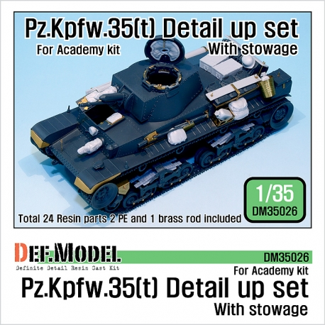 Pz.Kpfw.35(t) Detail up set with stowage (for Academy 1/35)