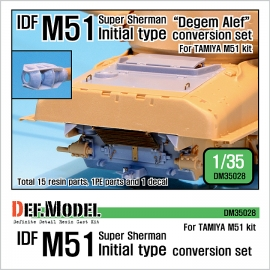 IDF M51 Super Sherman Initial type conversion set (for Tamiya 1/35)