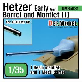 Hetzer Early type Barrel Mantlet set 1 (for Academy 1/35)