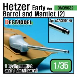 Hetzer Early type Barrel Mantlet set 2 (for Academy 1/35)
