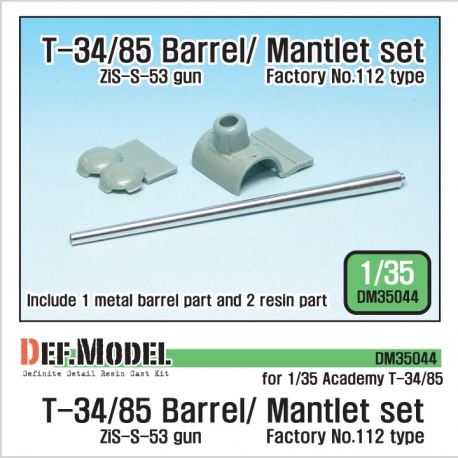 T-34/85 Metal Barrel/Mantlet set (for Academy 1/35)
