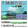 T-34/85 D-5T Turret conversion set - Early (for Academy T-34/85 Factory No.112 ver. 1/35)