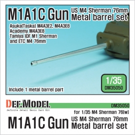 US M4 Sherman 76mm M1A1C Metal barrel set (for 1/35 Sherman 76(w) kit)