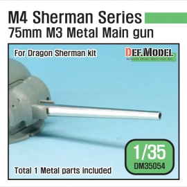 US M4 Sherman 75mm M3 Metal barrel set (for Dragon 1/35)