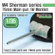 US M4 Sherman 75mm Metal barrel /w late Mantlet set( for Academy/Tamiya kit)
