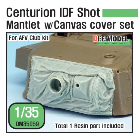 Centurion IDF shot Mantlet w/canvas cover set (for AFV Club 1/35)