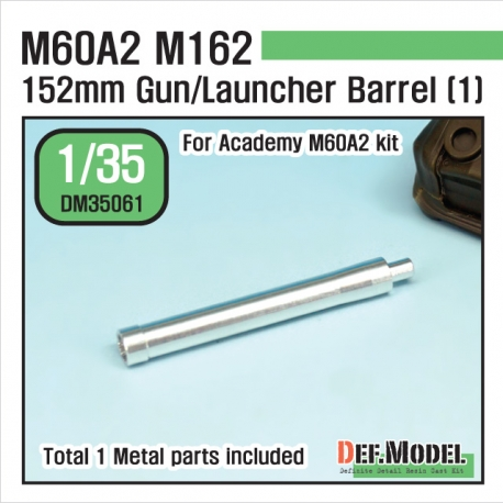 US M60A2 M162 Metal Gun Barrel 1 (for Academy 1/35)