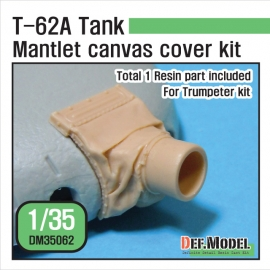 T-62A mantlet canvas cover set (for Trumpeter kit 1/35)