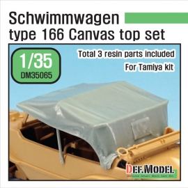 Schwimmwagen Type 166 Canvas top (for Tamiya 1/35)