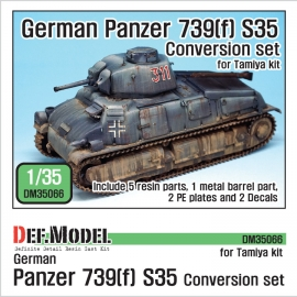 German Panzer 739(f) S35 Conversion set (for Tamiya 1/35)