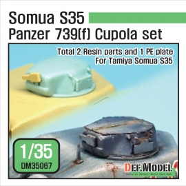 German Panzer 739(f) S35 Cupola set (for Tamiya 1/35)