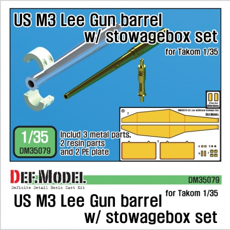 US M3 Lee/ Grant Gun barrel w/ additional toolbox set (for Takom 1/35)
