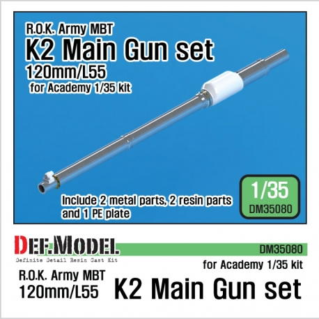 ROK Army K2 Tank Metal barrel set (for Academy K2 tank)
