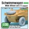 Schwimmwagen Wide Tire(continental)-Sagged (for Tamiya 1/35)