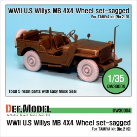 Willys MB 4x4 Truck Wheel set (for Tamiya 1/35)