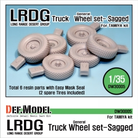 WW2 U.K LRDG Truck Wheel set (for Tamiya 1/35)