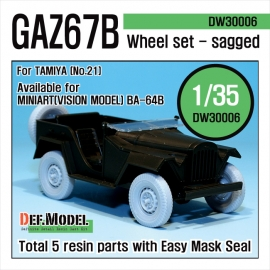 GAZ-67B Russian Field car wheel set (for Tamiya 1/35)