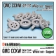 WW2 US CCKW Truck Wheel set (for Tamiya, Hobbyboss 1/35)