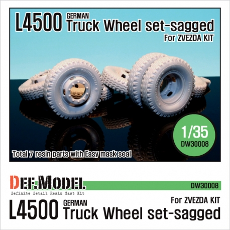 WW2 German L4500 Truck Wheel set (for Zvezda 1/35)