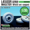 WW2 German L4500 R Maultier Wheel set (for Zvezda 1/35)