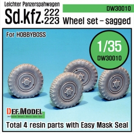 WW2 German sd.kfz.222 Wheel set (for Hobbyboss 1/35)