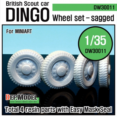 WW2 U.K. Dingo Wheel set (for Miniart 1/35)