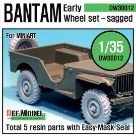 WW2 U.K. Bantam Early Wheel set (for Miniart 1/35)