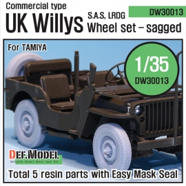 WW2 U.K. Commando/SAS Jeep Wheel set (for Tamiya 1/35)