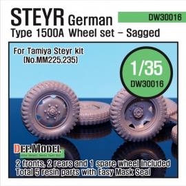 WW2 German Steyr 1500A Wheel set (for Tamiya 1/35)