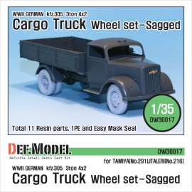 WW2 German 3t Cargo(Opel) Truck Wheel set (for Tamiya/Italeri 1/35)