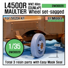 WW2 Allies L4500 R Maultier Wheel-(DUNLxP) set (for Zvezda 1/35)